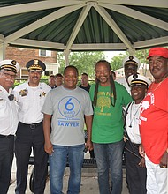 Sydney Brown Park held a dedication cerrmony for new improvements to be performed on the Park.  Many Dignitaries were on hand to celebrate the improvements and to support the family of a Chatham resident and fallen firefighter.