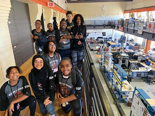 Middle school students from the Portland area tour a research lab at Oregon State University in Corvallis as part of a black student access and success initiative that aims to create pathways to higher education and increase the retention and academic success of black students.