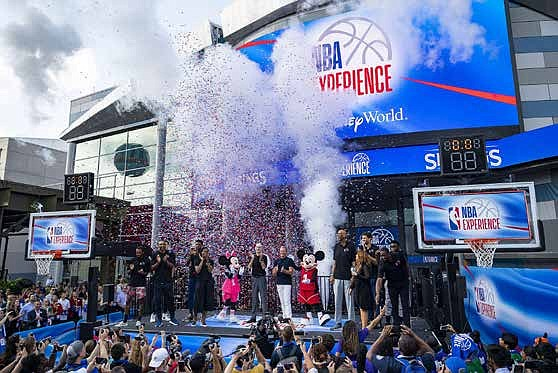 It was a championship-worthy celebration recently at Disney Springs for the grand opening of NBA Experience. Amid cheering fans and ...