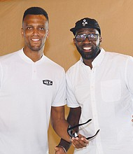 David Lucas (left) son of the late Blazer great Maurice Lucas and the executive director of the Maurice Lucas Foundation, and former Trail Blazer Martell Webster, attend the foundation's Celebrity Golf Invitational, which raised almost $100,000 for youth academic and athletic programs.