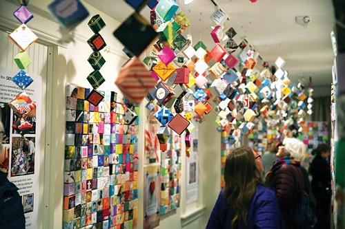In the tradition of the AIDS Memorial Quilt, people have been making these origami Soul Boxes as a way to remember victims of gun violence. The Soul Box Project was started by a Portland artist and a current display is now showing at Milwaukie City Hall through the month of August.