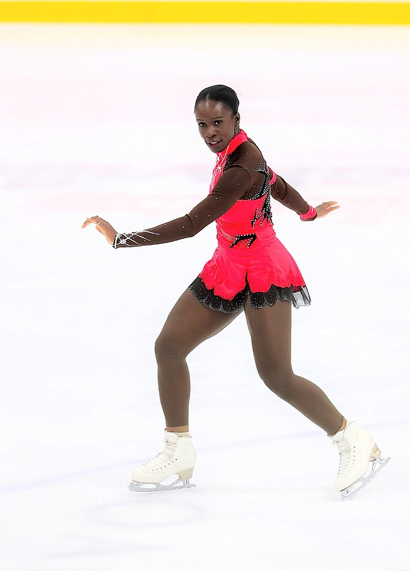"""It's beautiful and the people are amazing,"""" said French figure skater Maé-Bérénice Méité about life in Tampa, Florida, where she ..."""