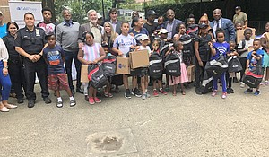 Backpack drive in Harlem