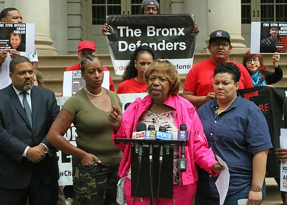 The mother of Eric Garner is urging New York lawmakers to repeal a law used to keep the disciplinary records ...