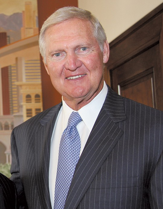 Los Angeles Lakers legend Jerry West received the..