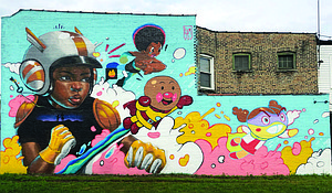 """A new public mural titled """"Rise as One"""" can be found at 1842 E. 79th St. thanks to an ongoing partnership between the Southeast Chicago Chamber of Commerce and AB Productions. Photo Credit: Courtesy of Kayla Mahaffey"""