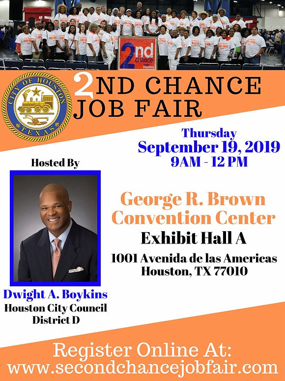 City Council Member Dwight Boykins is pleased to announce his upcoming annual 2nd Chance Job Fair on Thursday, September 19, ...