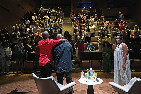 """As the credits rolled, the audience of more than 200 people fell silent with astonishment and anger after viewing """"The ..."""