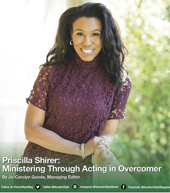Call her an author. Call her an actress. Ask Priscilla Shirer what she is and she will say a minister, ...