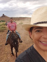 Horseback riding with some new friends!
