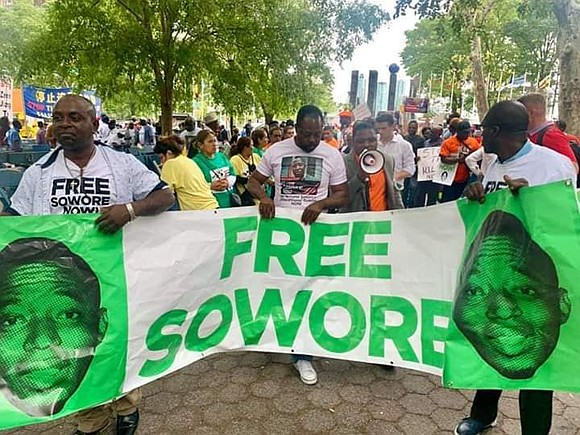 On Tuesday, Sept. 24, 2019, as Nigeria's President Muhammadu Buhari prepared to speak at the United Nations General Assembly, protestors ...