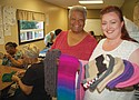 Sheila Sylvester (left) and Annie Nuomi, co-chairs of Warm Heads and Hearts, a volunteer sewing, knitting and crocheting group that creates hats for our neighbors experiencing homelessness. The diverse group regularly meets at New Song Community Church at 2511 N.E. Martin Luther King Jr. Blvd and has created over 1,600 articles of clothing since 2017.