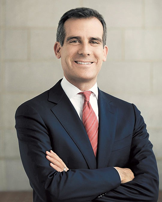Los Angeles Mayor Eric Garcetti has given praise..