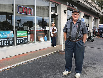 """Raleigh """"Red"""" Carr and his wife, Jean, are seeing customers dwindle at their gas station and convenience store in South Side since the city imposed a 50-cent tax on a pack of cigarettes beginning July 1. The store in the 2200 block of Broad Rock Boulevard has been the couple's main livelihood for nearly 50 years."""