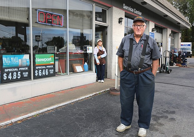 "Raleigh ""Red"" Carr and his wife, Jean, are seeing customers dwindle at their gas station and convenience store in South Side since the city imposed a 50-cent tax on a pack of cigarettes beginning July 1. The store in the 2200 block of Broad Rock Boulevard has been the couple's main livelihood for nearly 50 years."
