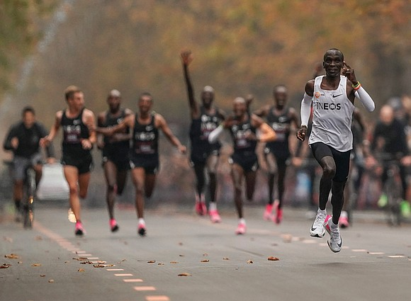 Kenyan Eliud Kipchoge made athletics history on Saturday when he became the first person to run a 26.2-mile marathon in ...