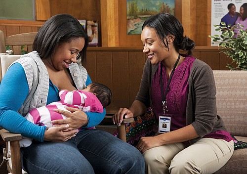 New mothers are usually given advice on breastfeeding at the hospital, but some don't follow up because of cultural differences