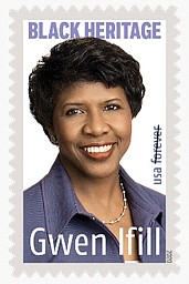 "Pioneering journalist Gwen Ifill, the late anchor of the PBS ""News Hour,"" will be honored on a Forever stamp in ..."