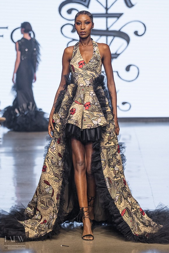 At Los Angeles Fashion Week, designer Angel Sanchez stood out with a sophisticated, vampire-inspired collection.