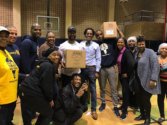 "The Rotary Club of Harlem hosted its third annual ""Food for the Soul"" food packaging event uptown."