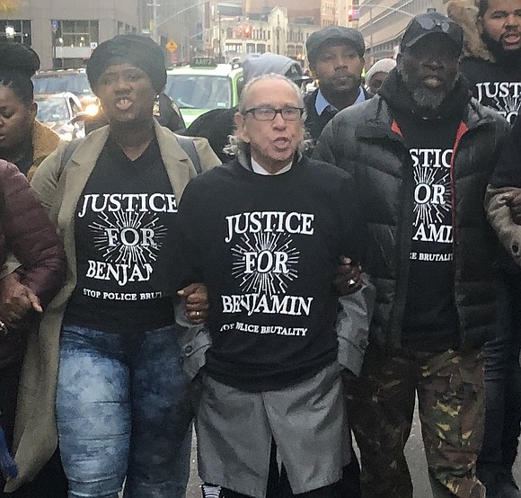 A march and news conference was held in front of the 84th Precinct this past Nov. 4. Advocates protested and ...