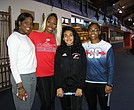 St. John's graduate and Olympic high jumper Priscilla Frederick at the Armory