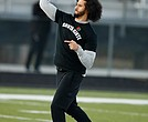 Former NFL quarterback Colin Kaepernick participates in a workout for NFL scouts and the media last Saturday at a high school field in Riverdale, Ga.