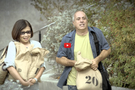 This public service announcement illustrates that even a few extra pounds can affect your health and life more than you may think. Average people in a park -- not actors - are asked to carry a 10-pound sandbag, and report how the added weight affects them and their ability to carry out normal, everyday activities.