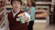 Two shoppers in a grocery aisle are discussing nutrition labels, they are musically interrupted by store employees and other shoppers singing about the importance of reading and understanding the information on the Nutrition Facts Label. www.fda.gov/nutritioneducation [vpfood]