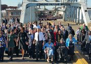 The First Family traveled to Selma, Alabama to commemorate the 50th anniversary of the marches from Selma to Montgomery, and to celebrate the passage of the Voting Rights Act of 1965. Amelia Boyton joins the President in her wheelchair for the historic moment.