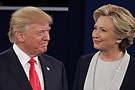 Donald Trump and Hillary Clinton, the Republican and Democratic presidential nominees, participate in their second debate at Washington University in St. Louis, Missouri on Sunday, October 9th.