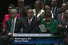The Congressional Black Caucus' ceremonial swearing in of Louisiana Congressman Cedric Richmond as new chairman.