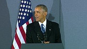 Former President Barack Obama spoke to a crowd of supporters at Andrews Air Force Base Friday afternoon, telling them to keep their hope and optimism under President Donald Trump. READ MORE: http://globalnews.ca/tag/barack-obama/
