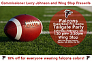Superbowl Pre-Game Tailgate Party From 1:30 p.m. to 3:30 p.m. at Wing Stop, 4920 Flat Shoals Parkway in Decatur.