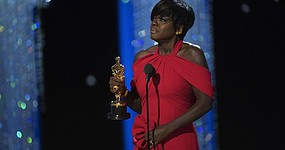 "Viola Davis gives #Oscars acceptance speech after winning Best Supporting Acress: ""I became an artist, and thank God I did, because we are the only profession that celebrates what it means to live a life."" http://abcn.ws/2mtILYt"