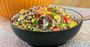 Black Eyed Pea Corn Rice Salad