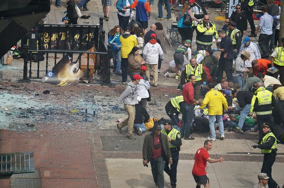 Reports indicate that two explosions occurred at 2:45 p.m. at the Boston Marathon on Monday...