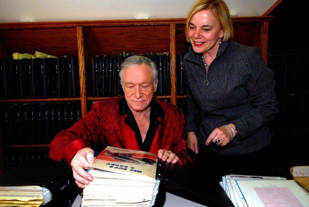 Hugh Hefner and Brigitte Berman, producer/director
