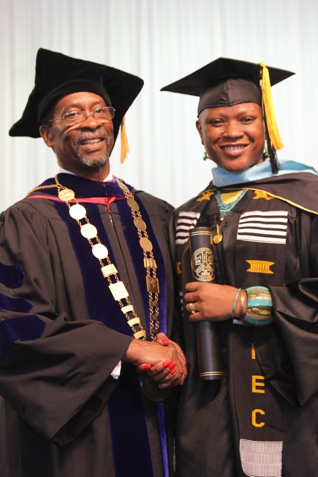 Yolanda Simmons graduates summa cum laude from Medgar Evers College