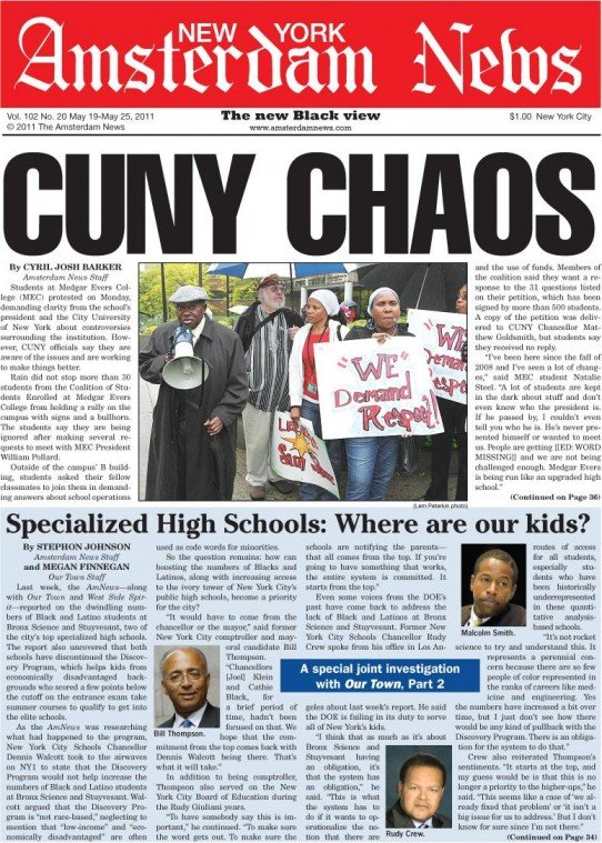 Students at Medgar Evers College (MEC) protested on Monday, demanding clarity from the school's president...