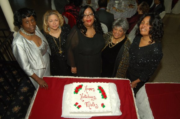 The Empire City Moles celebrated the holidays at the exclusive Davenport Country Club in New...