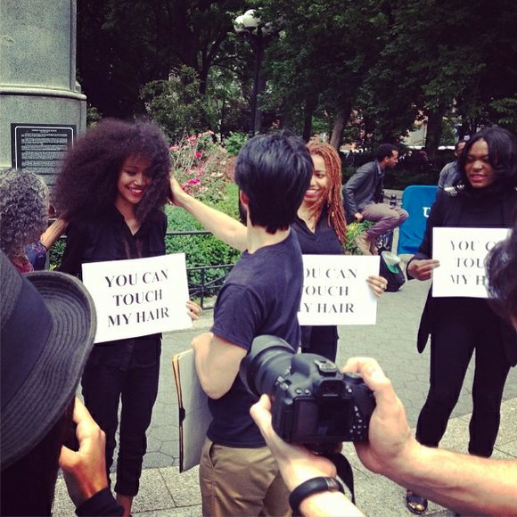 Would you allow complete strangers to touch your hair? One group of Black women actually...