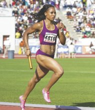 Natasha Hastings is sprinting to the indoor track season