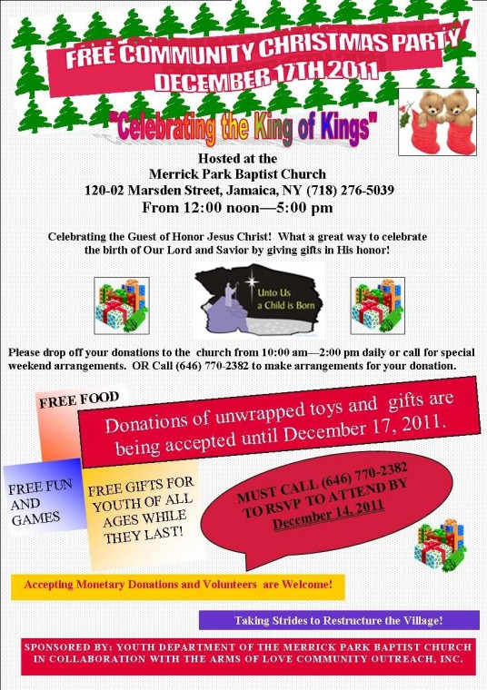 Celebrate The King Of Kings Free Community Christmas Party New