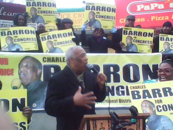 Congressional candidate and City Council Member Charles Barron is stumping throughout the 10th District, talking...