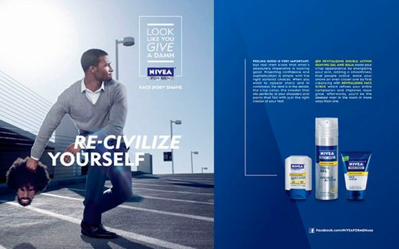 In a recent issue of Esquire n add appeared for Nivea appeared showing a well...