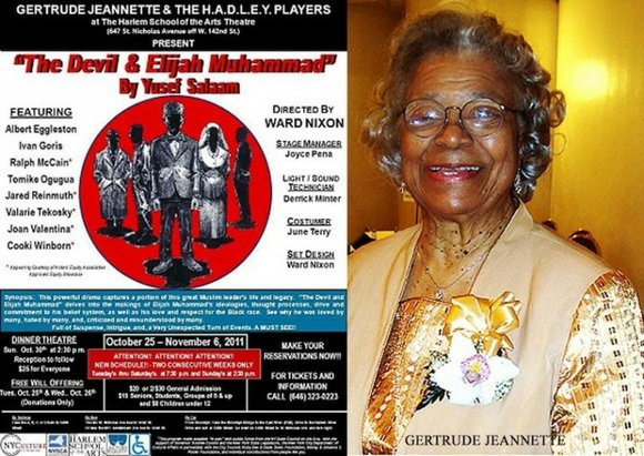 Gertrude Jeannette and the H.A.D.L.E.Y. Players will open their 2011-2012 theater season with Yusef Salaam's...
