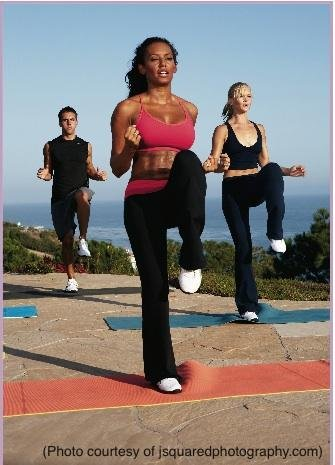 "And a one, and a two! Mel B's ""Totally Fit"" DVD gets you up on..."