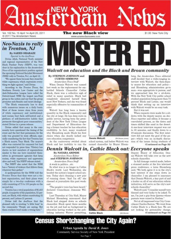 When Dennis Walcott was named last week as the replacement for embattled Schools Chancellor Cathie...