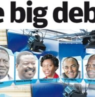 Eight Kenyan hopefuls turn up election hear in first-ever American Style debate